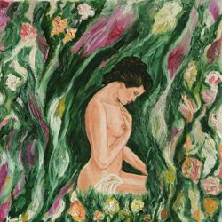 Catia Massa - Ninfa - Oil on canvas - cm 30 x 30  - 2010