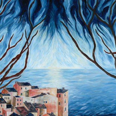 Catia Massa - Vista dall'isola - Oil on canvas - cm 80 x 100  - 2009